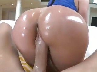 Oiled up lusty milf with a big ass is hot