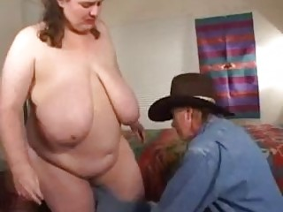 Big BBW Chinese mama gets pounded hard by a cowboy