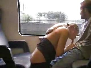 German amateur girl fucked in the train