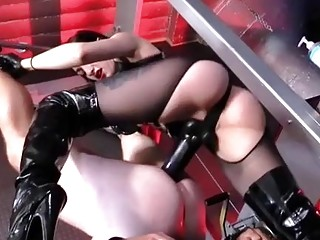 Anal slamming her tied up husband