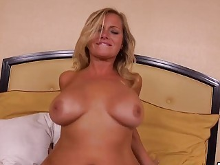 Alluring milf blonde gets her smashing body fucked really rough
