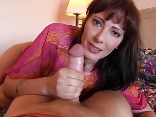 Breathtaking redhead loves having the craziest moms and boys action