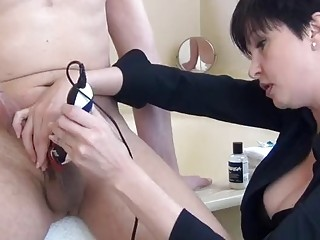 Brunette MILF has fun with casting agents big long sword