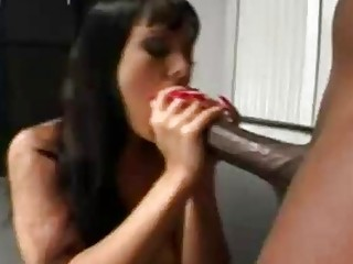 Inviting chick loves black monster cocks while in a cuckold