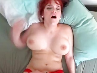 Amateur redhead gets fucked and filmed