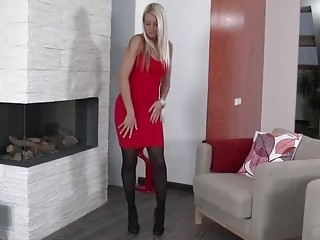 Big ass blonde milf loves to get naked and masturbate