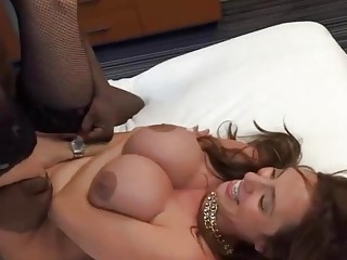 Hypnotic redhead always wanted an interracial sex as this one