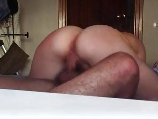 Amateur beauty riding his cock in cowgirl