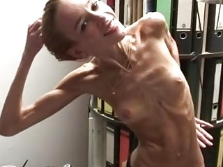 Anorexic chick is very flexible and tight