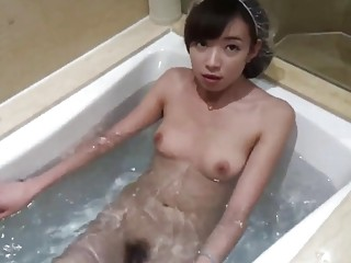 Chinese couple has a fun fuck session in the bathroom