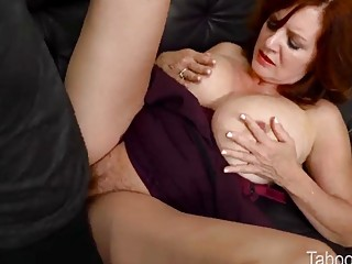Mommy with big tits has fetish sex with horny stepson