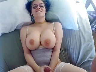 Chubby amateur chick with big tits gets doggy styled hard