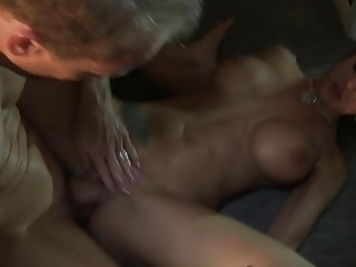 Missionary slamming a beautiful big ass brunette princess