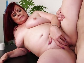 Shutting up annoying fat redhead with my cock