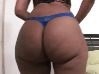 Compilation of big black booty teasing with thongs