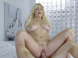 Cute blonde Kylie Page enjoys a good morning sex
