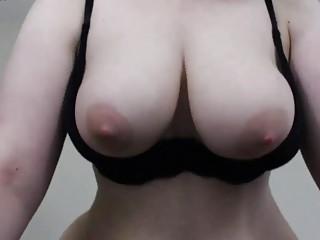Busty brunette solo webcam chick gets kinky