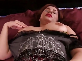 Irresistible milf watching porn with her son
