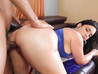 Kinky American beauty with a big booty rammed hard