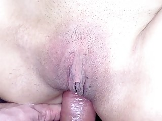 Teen slut chokes on a hard cock before fucking