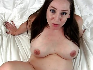 Seductive stepmom talks dirty while teasing in POV