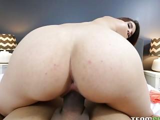 Cece's cum-covered belly