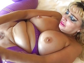 Chubby mature naughty craves for rough anal fuck