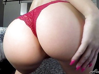 Filthy Alexis Monroe gets naked and shows her big tits
