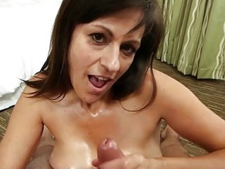 Tattooed MILF with big tits sucks dick and fucks hardcore