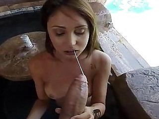 Gorgeous amateur babe Ariana Marie sucks dick and fucks hard