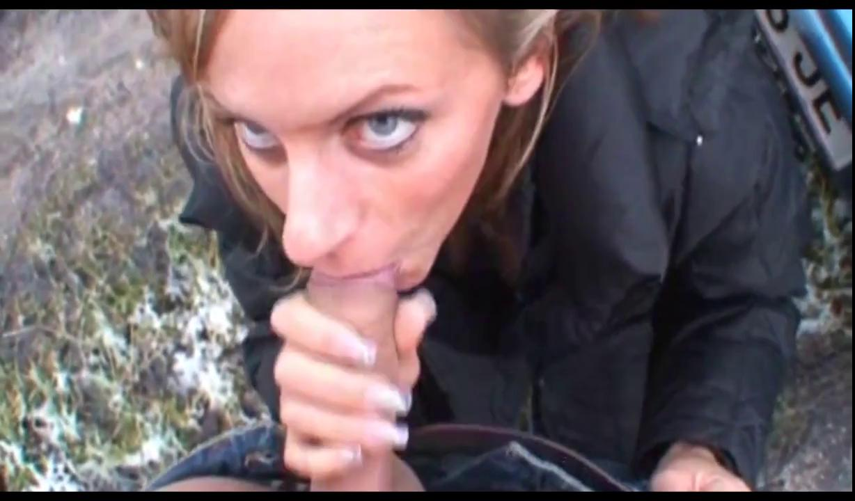 Austrian Amateur Porn austrian gal gives a blowjob and takes a piss outdoors